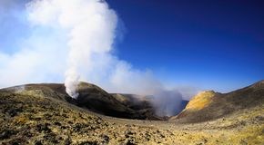 View of Summit crater on Etna royalty free stock photography