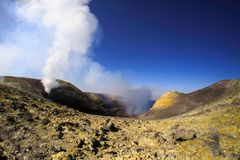 View of Summit crater on Etna royalty free stock image