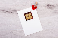 Picture of present on paper. Stock Photo