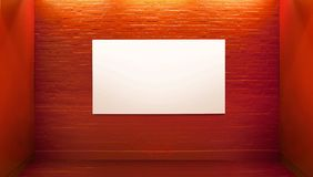 Picture presenting board in art gallery Stock Image