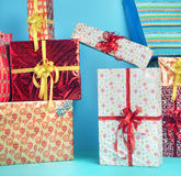Picture presenting the Christmas presents Stock Image
