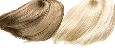 Picture presetning two straight, dense wigs Stock Image