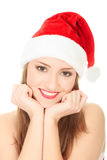 Picture of pretty christmas girl Royalty Free Stock Photos
