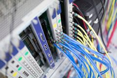 Picture of professional networking hardware used by isps Royalty Free Stock Photos