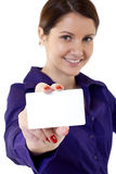 Picture of professionals white business card Stock Photo