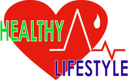 Picture promoting a healthy lifestyle Royalty Free Stock Image