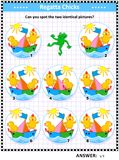Picture puzzle with chicks the sailors Royalty Free Stock Photography
