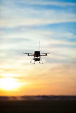 Picture of an rc multicopter. Picture of a quadrotor rc model royalty free stock photography