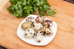 The picture quail eggs Royalty Free Stock Photography