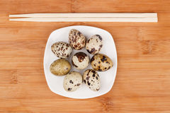 The picture quail eggs Royalty Free Stock Images
