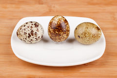 The picture quail eggs Royalty Free Stock Photos