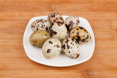 The picture quail eggs Royalty Free Stock Image