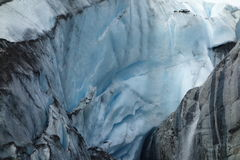 A picture of a receding glacier. Royalty Free Stock Photography