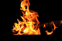 Picture with red flame on the black background Royalty Free Stock Images