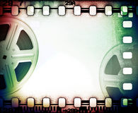 Picture reels with film strip. Royalty Free Stock Images