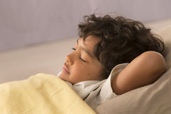 Picture of relax Young boy sleeping Royalty Free Stock Images