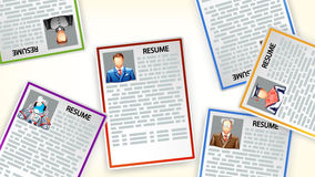 Picture of resume6 Royalty Free Stock Images
