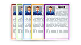 Picture of resumes Royalty Free Stock Image