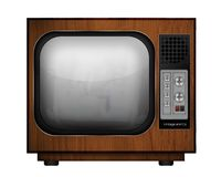 Picture of a retro tv Stock Images