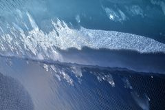 Blue water with ice Stock Photo