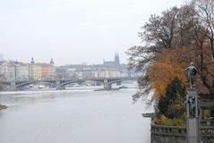 Picture of the river Vltava in Prague in Czech republic Stock Image