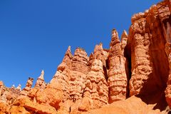 Rock formations from Bryce Canyon National Park Utah. A picture of rock formations from Bryce Canyon National Park Utah Royalty Free Stock Photo