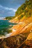 Picture Rocks National Lakeshore at Sunset, Michigan Royalty Free Stock Photo
