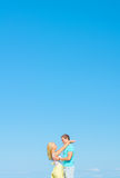 Picture of romantic young couple. Stock Images
