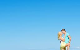 Picture of romantic young couple. Royalty Free Stock Images
