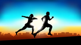 Picture of runners Royalty Free Stock Images