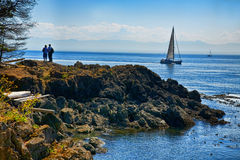 Picture of the San Juan Island bay Royalty Free Stock Photography