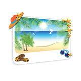Picture of the sand beach landscape on white background. Royalty Free Stock Image