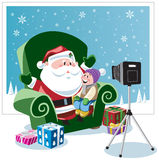 Picture with Santa royalty free illustration