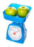 Picture of scale with apples Royalty Free Stock Photos