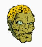Picture of scary zombie head. With a scar Stock Photography