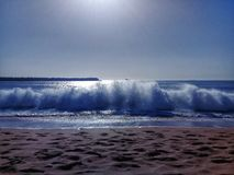 Picture of the sea its the most beautiful sea in all morocco stock photography