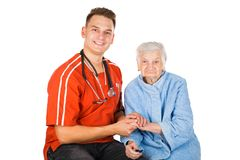 Elderly care at home Royalty Free Stock Photos