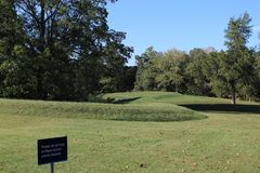 Serpent Mound Ohio. A picture of Serpent Mound in Ohio royalty free stock images