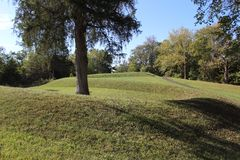 Serpent Mound Ohio. A picture of Serpent Mound in Ohio stock photography