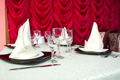 Picture of serving table Royalty Free Stock Images