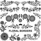 Floral borders - vector set. Stock Photography