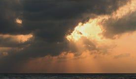 Picture set Landscape sunrise Songkhla Sea. Landscape sunrise or sunset at the songkhla Sea royalty free stock image