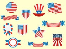 Picture set of the Symbols of USA. Vector illustration of the Picture set of the Symbols of USA royalty free illustration