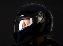 Picture of sexy biker Stock Image