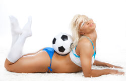Picture of sexy girl with ball Stock Photos