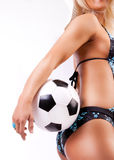 Picture of sexy soccer fan Stock Photography