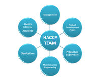 The picture is show the member of the HACCP team style 1 Royalty Free Stock Image