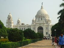 Beautiful and luxurious Victoria Memorial stock images