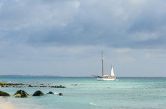 Picture showing a big sailboat on sea Royalty Free Stock Photos