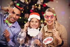 Happy family having fun during Christmas time Royalty Free Stock Photography